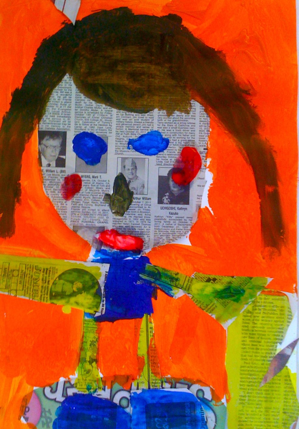 kids art market  facial proportion with romare bearden