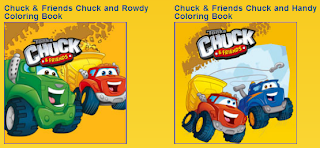 Free Chuck and Friends Colouring Books