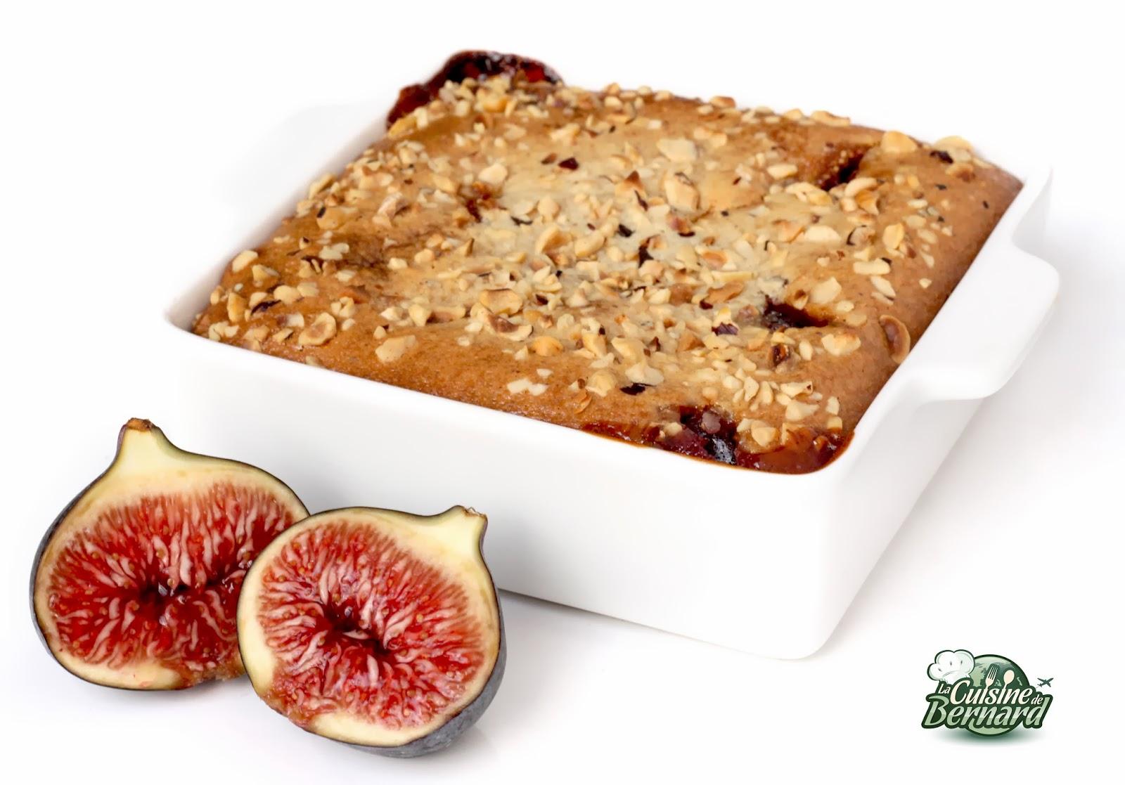 La cuisine de bernard g teau fondant figues amandes et - La cuisine de bernard fondant ...