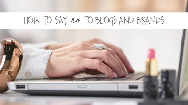 How to say no gracefully to blogs and brands that want you to work for free - small business and blogging advice from Lesley Myrick Art + Design