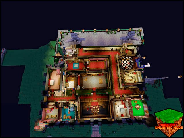 Luigi's Mansion Hidden mapa Minecraft