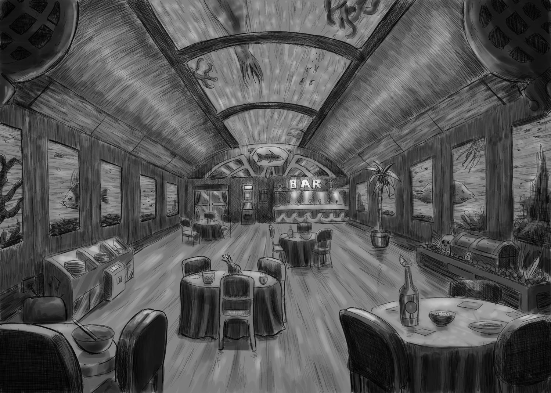Sunil kainth sketch restaurant interior design