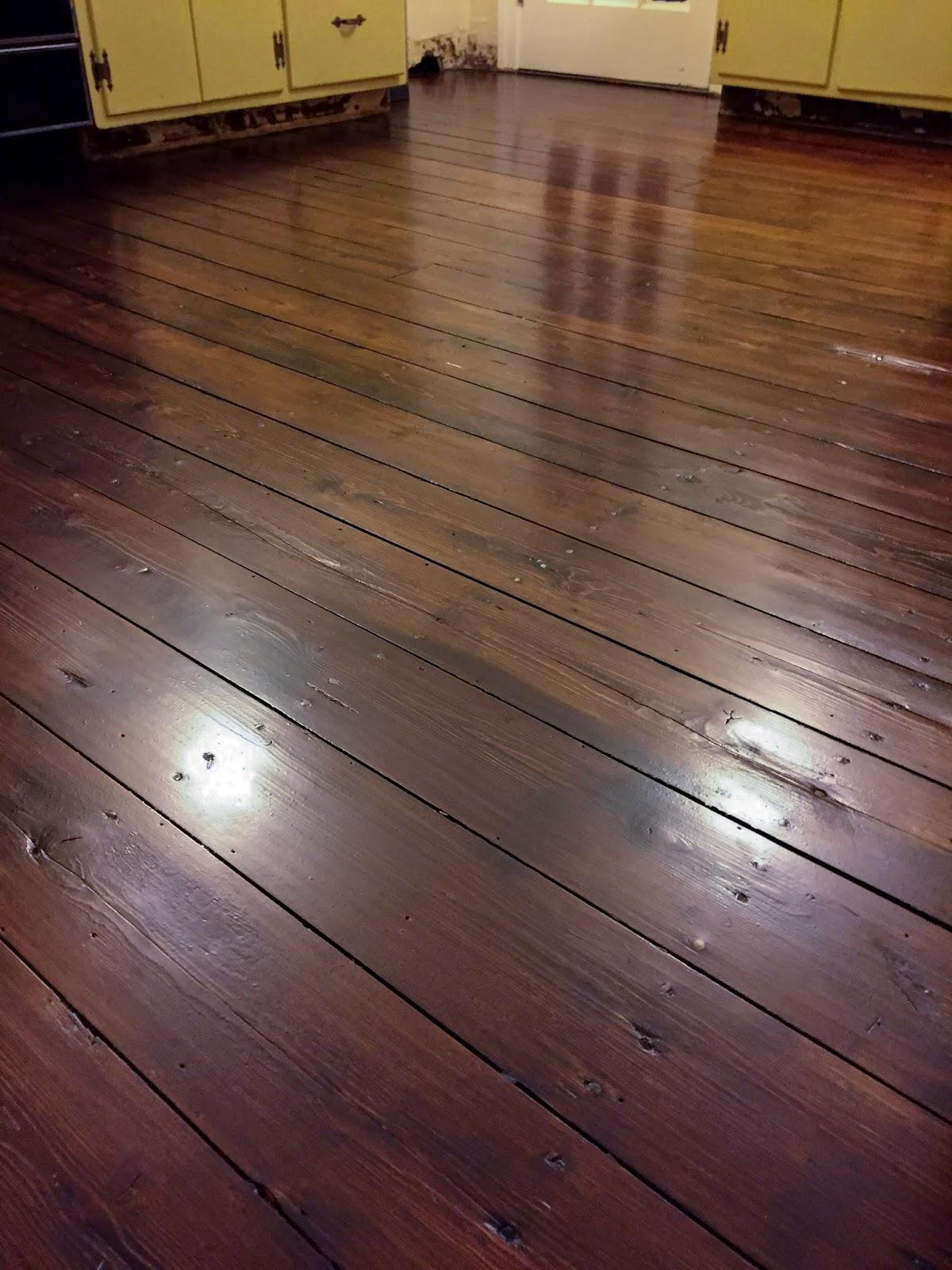 Refinishing Wood Floors - Wide Plank Pine - Restoring