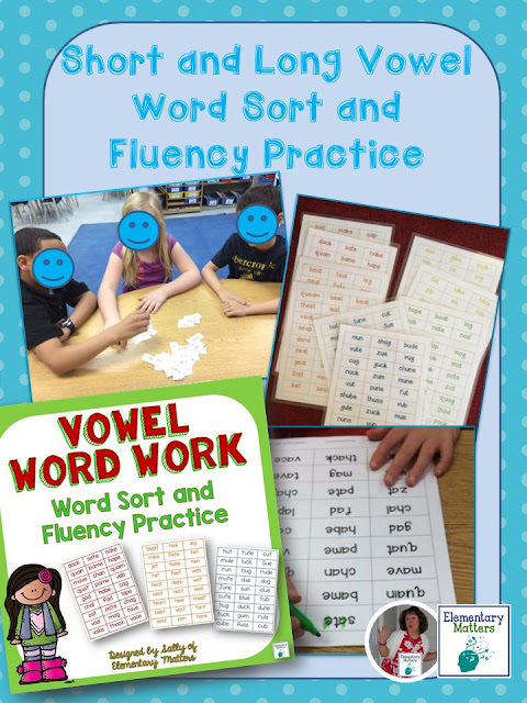 Short and Long Vowel Word Sort and Fluency Practice