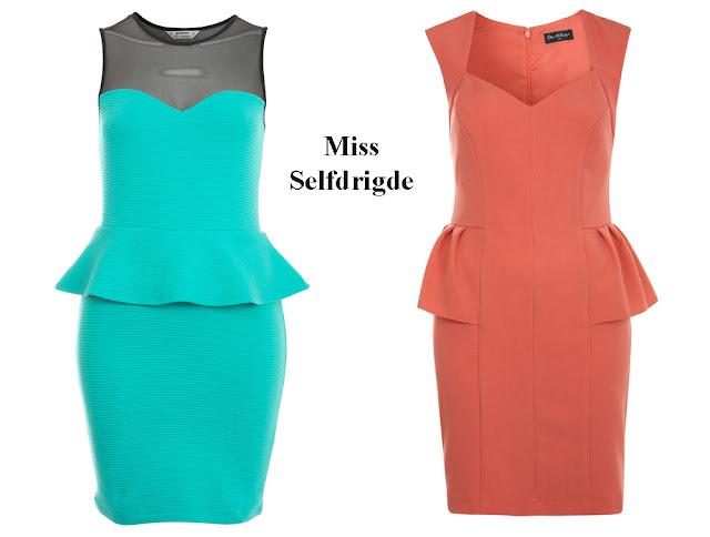 Vestido peplum Miss Selfridge