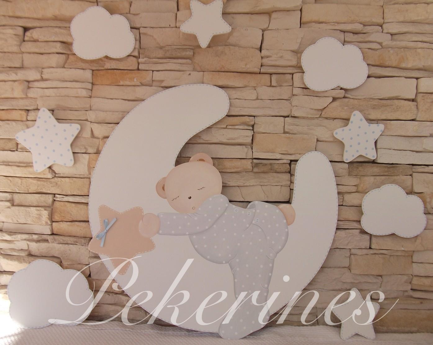 Decoraci n infantil pekerines siluetas decoraci n - Decoracion de habitacion de bebe nina ...