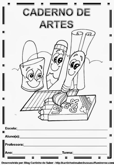 Capas para caderno de artes