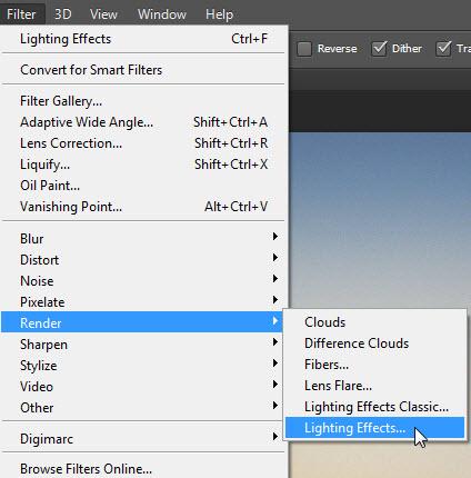 Step 1  Go to Filteru003eRenderu003eLighting Effects.  sc 1 st  Photoshopper27 & Lighting Effects in Photoshop CS6 Working With It | Photoshopper27