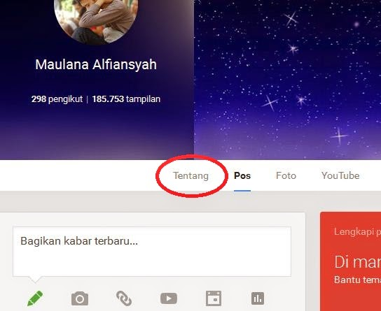 About Profil Google+