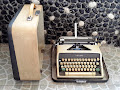 Vintage Olympia De Luxe Typewriter, made in Western Germany.