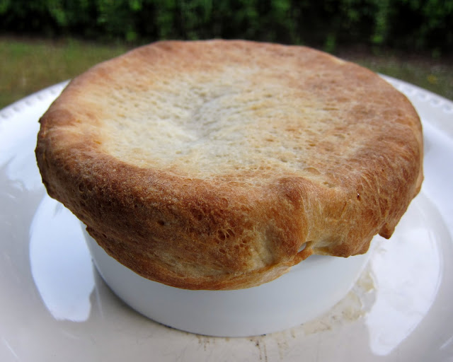 Pizza Pot Pie - place pizza topping and cheese in large ramekin, top ...