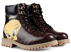 Moschino Looney Tunes botas Jeremy Scott