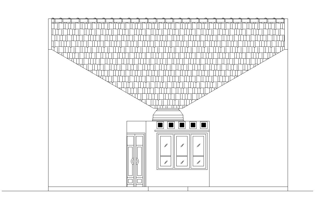 Desain dan Denah Rumah Ukuran 10,8 m x 22,5 m