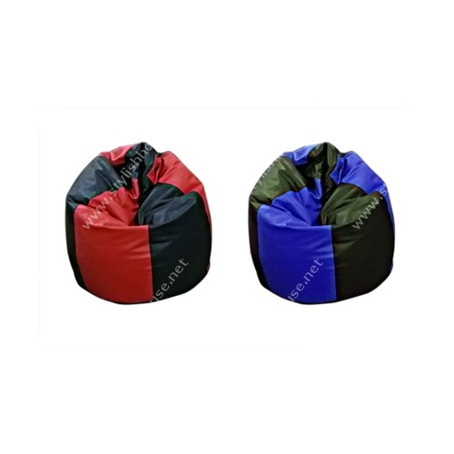 Multi-colored artificial leather bean bag seat