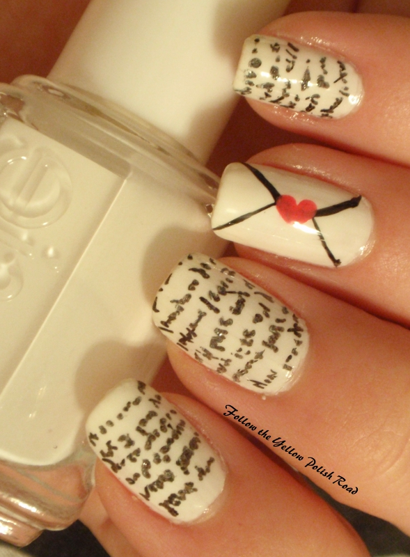 ... with a new nail design each day, we have two each week. Day Five is  Gotta Love Chick Flicks: We just can't resist! Wear a mani inspired by your  favorite ... - Follow The Yellow Polish Road: Girly Girl Nail Art Challenge Day 5