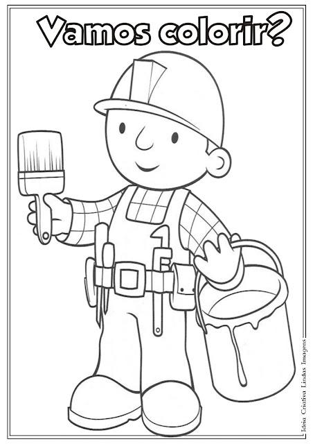 Desenho Bob o Construtor para colorir