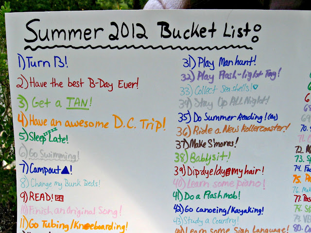 A fabulous Summer Bucket List idea including 100 ideas! #summer #bucketlist