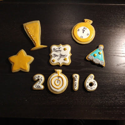 2016 cookies; New Year's cookies; New Year's cookies