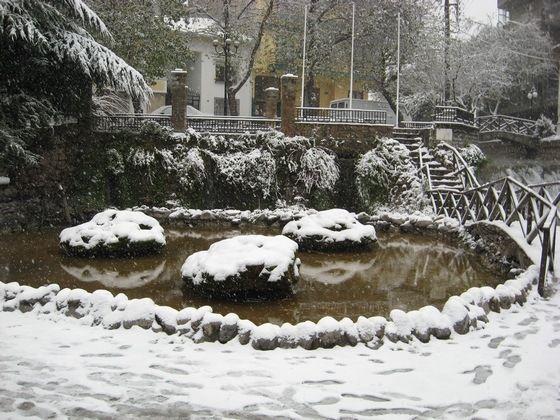 Το πάρκο των μικρών καταρρακτών τα Χριστούγεννα του 2008