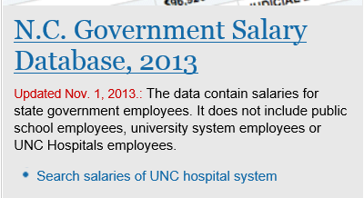 State of NC Salaries