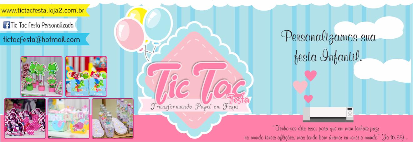 Tic Tac - Convites - Lembrancinhas - Festa Personalizada