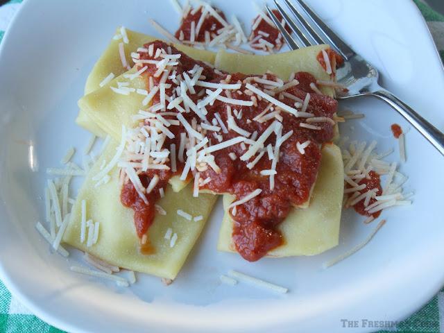 Pasta Sauce, ravioli, cheese