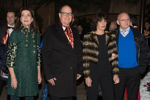 Princess Caroline of Hanover, Prince Albert II of Monaco Princess Stephanie of Monaco, Rolf Knie attend the 40th international circus festival on January 19, 2016 in Monaco, Monaco.