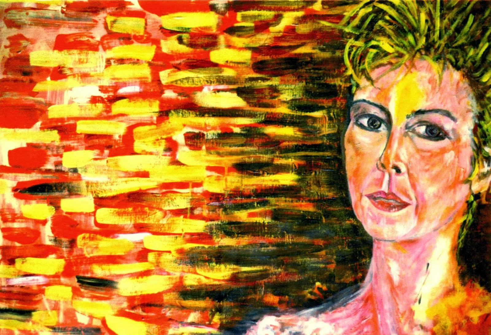 """Portrait """"a la Francesco Clemente"""""""