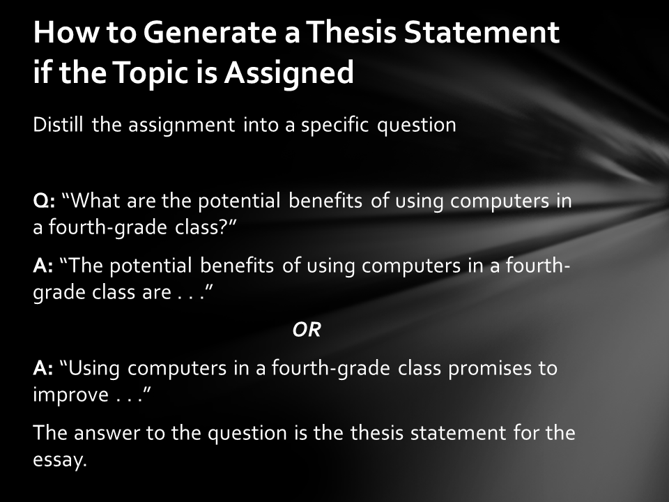 classical thesis statements A thesis statement usually appears at the middle or end of the introductory paragraph of a paper, and it offers a concise summary of the main point or claim of the essay, research paper, etc it is usually expressed in one sentence, and the statement may be reiterated elsewhere.