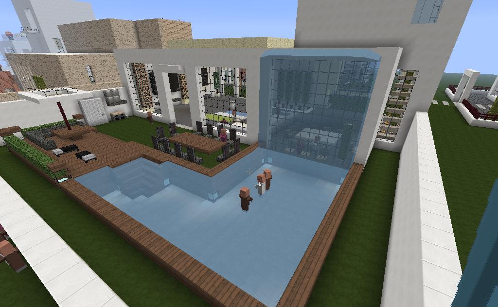 Sala De Estar Minecraft ~ Matt2boy #MINECRAFT CASA MODERNA GRANDE do @matt2boy