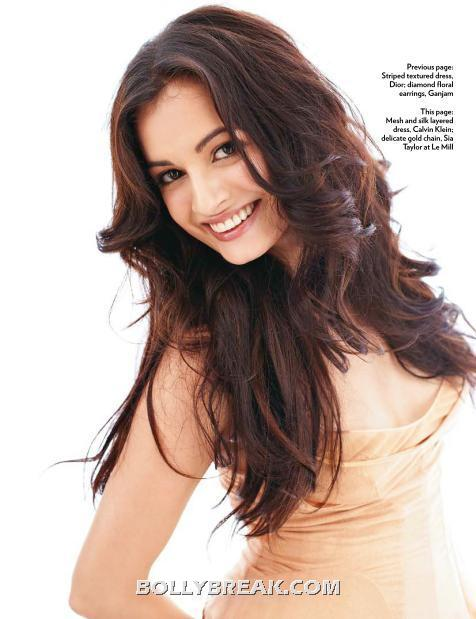 Dia mirza in a peach pastel dress - (2) - Dia Mirza's Marie Claire July 2012