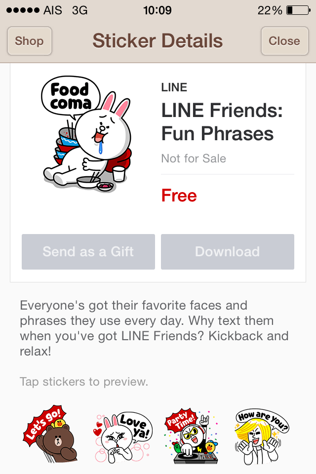LINE friends:Fun Phrases