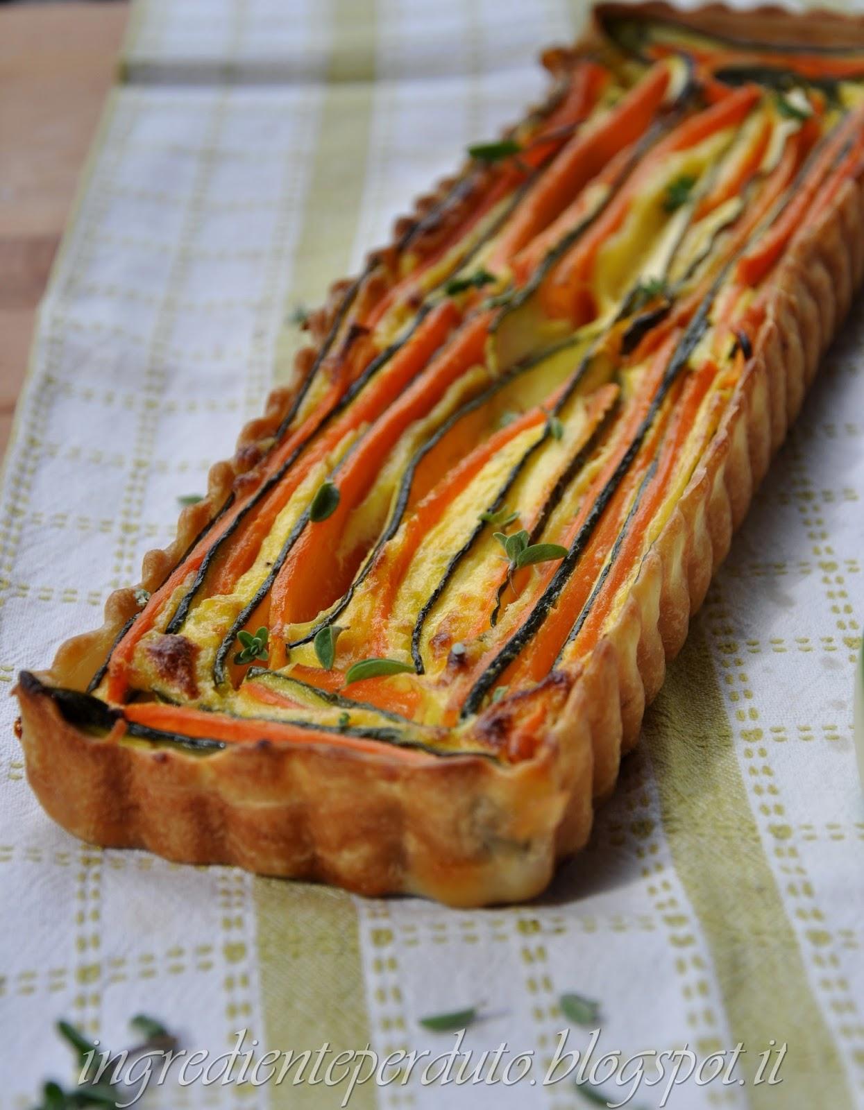quiche lorainne verdure colorate-ingrediente perduto