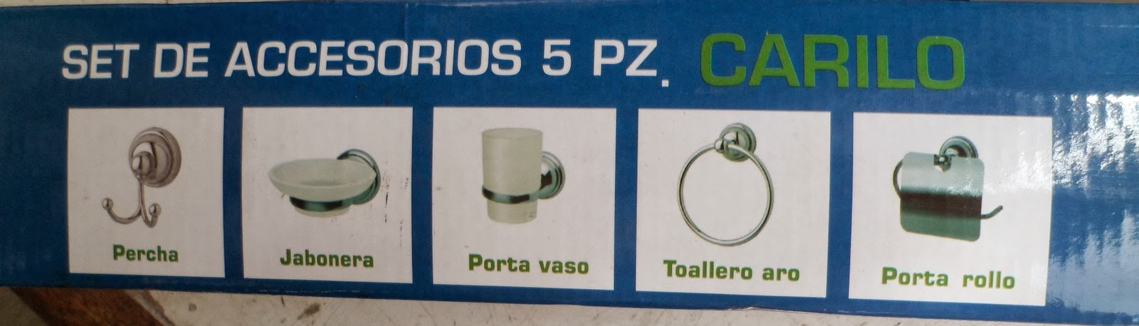 Punto sanitario promoci n en set de accesorios para ba o for Set de accesorios para bano