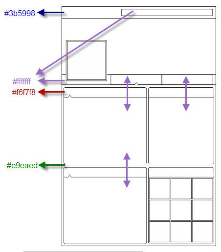 Lalu warnailah layout tersebut sesuai dengan code warna diatas, copy