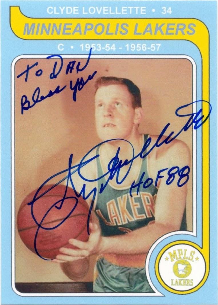 Minnesota Sports Autograph Project CLYDE LOVELLETTE