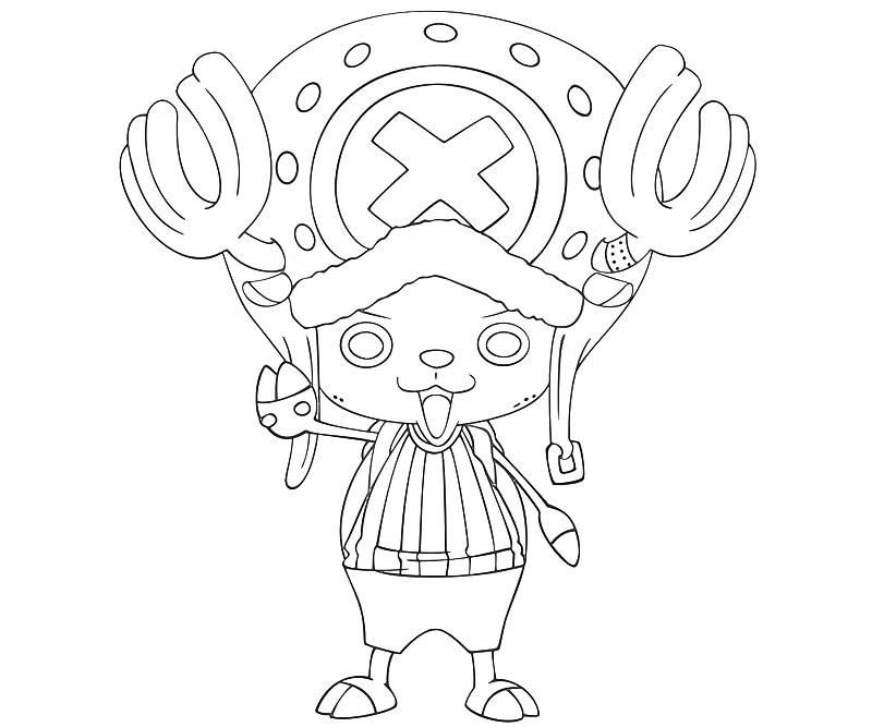 printable-one-piece-tony-tony-chopper-look-coloring-pages