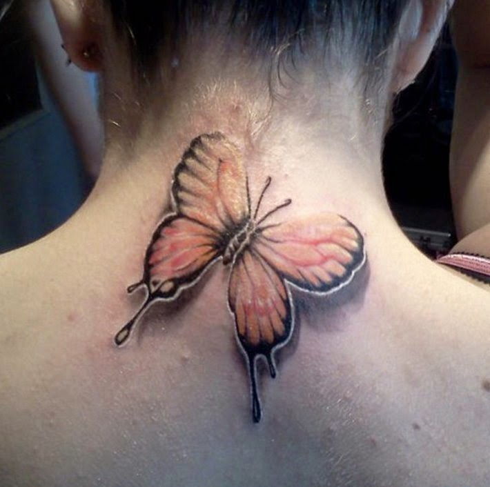 Butterfly Neck Tattoos