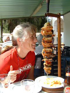 Mouthwatering Algarve, Portugal seafood.   Photograph of Janie Robinson, Travel Writer
