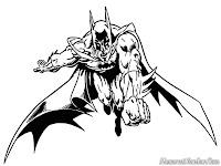 Batman Lompat Menerjang Kearah Lawannya