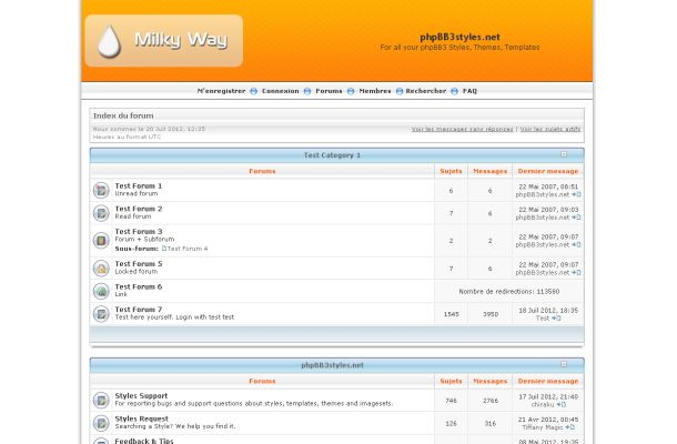 Free Blue Orange White Phpbb Style Theme Template