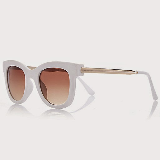 white sunglasses river island