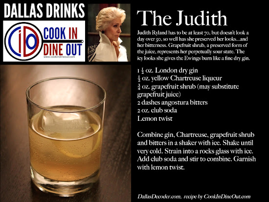 Dallas Drinks: The Judith - gin, yellow chartreuse, grapefruit shrub