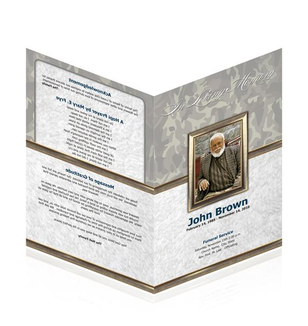 new funeral program design templates