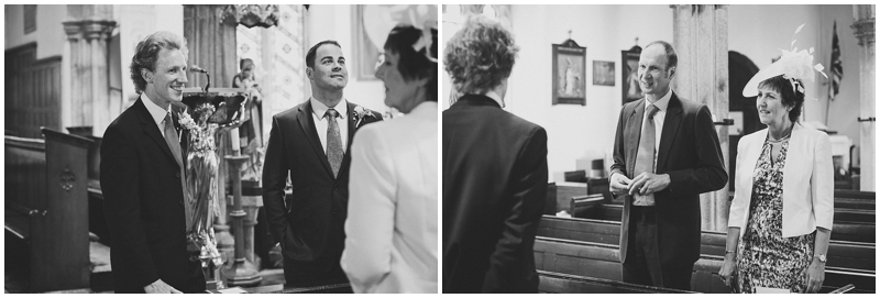 Groom at the church before the wedding