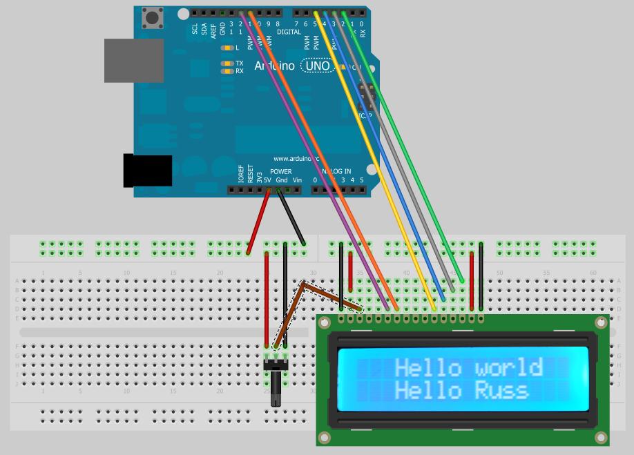 Tech that arduino lcd display