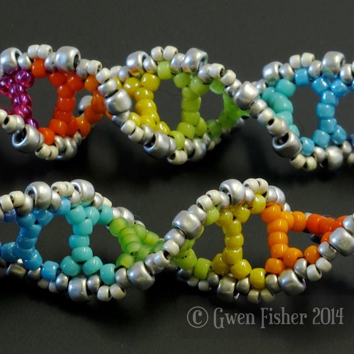 Rainbow DNA Earrings