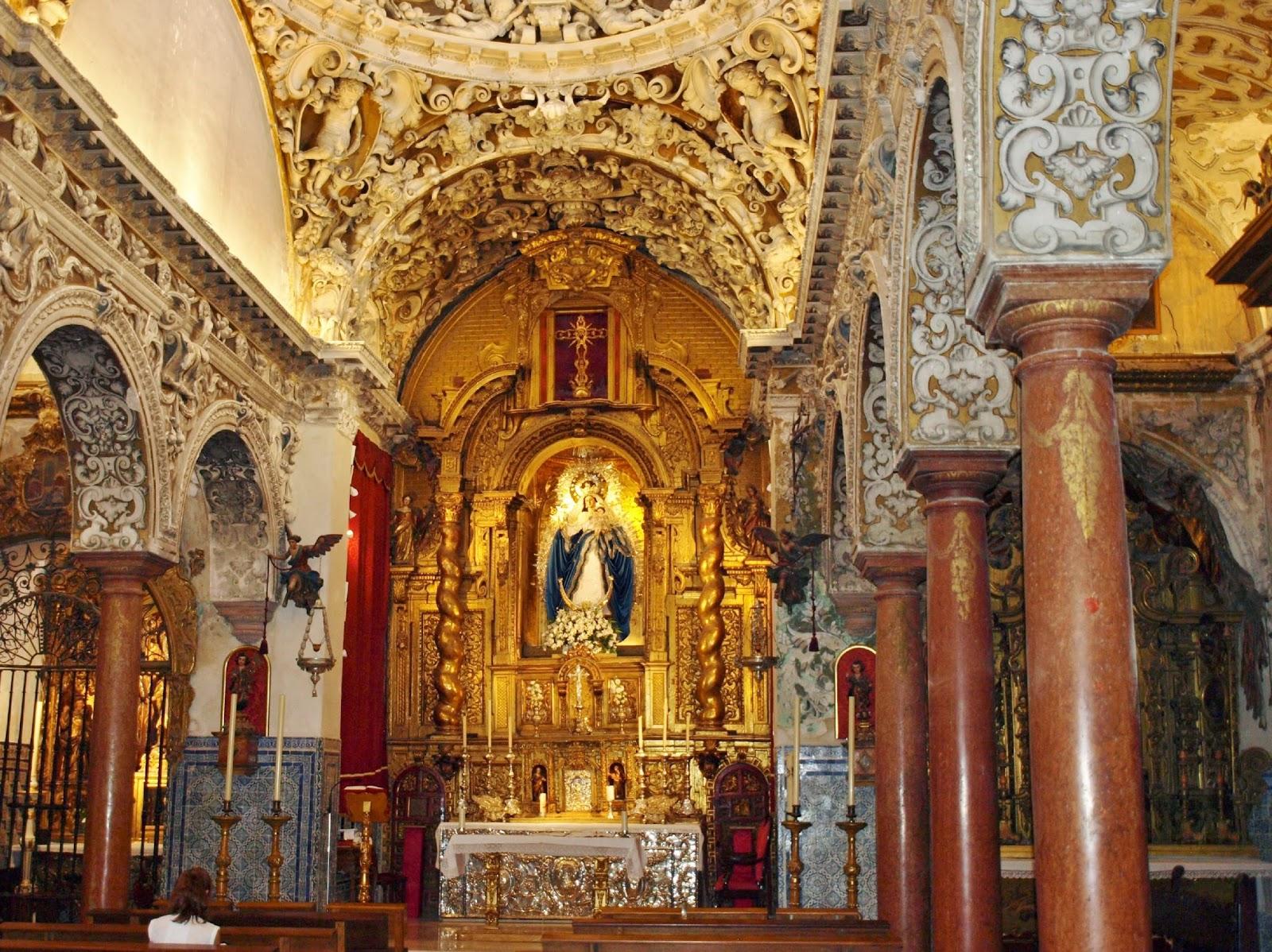 Sevilla Daily Photo: Iglesia de Santa María la Blanca (6): el Retablo Mayor.