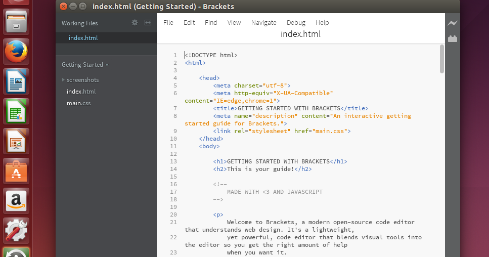 how to use brackets code editor