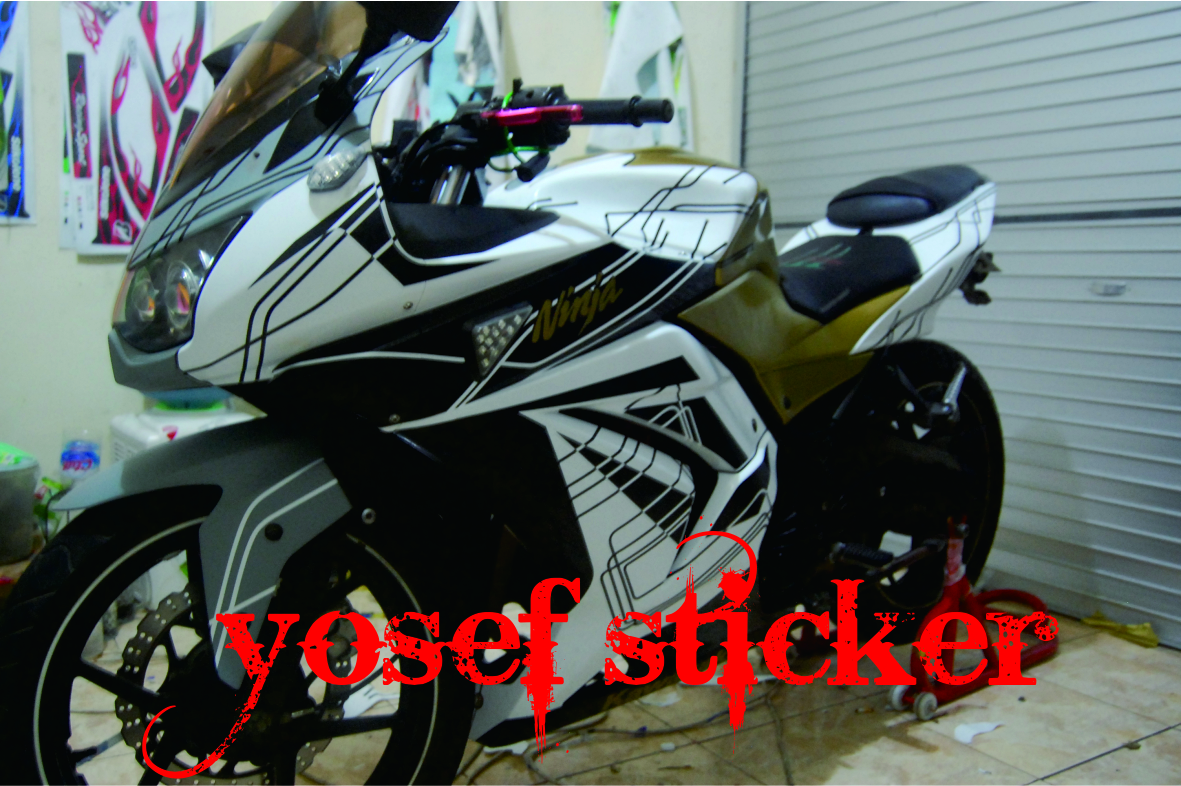 Ninja 250 Putih Cutting Sticker       Pic2fly   Ninja 250 Putih